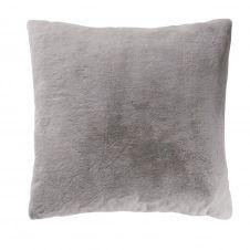 Coussin imitation fourrure grise 60×60
