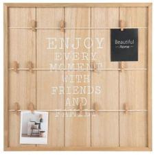 Pêle-mêle photo en bois 48 x 48 cm ENJOY