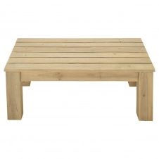 Table basse de jardin en bois L 100 cm Bréhat