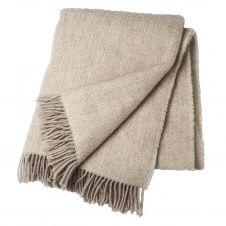 Plaid en laine Sandstone Beige