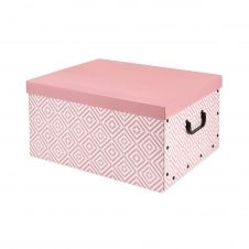 Boîte carton rose 50x40cm