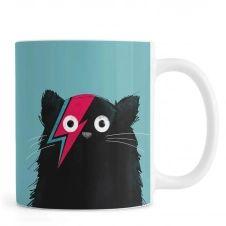 Mug en céramique en Noir & Turquoise