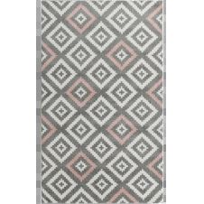 TAVLA – Tapis géométrique rose 160x230cm