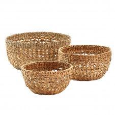 Set de 3 paniers en fibres naturelles
