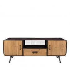 Meuble TV en bois et métal  et  bois clair