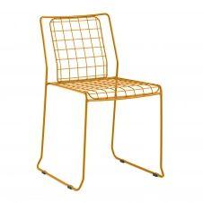 Chaise en acier jaune