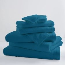 Drap de bain uni et coloré coton turquoise 150×100