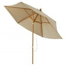 Parasol inclinable en tissu et aluminium taupe Palma