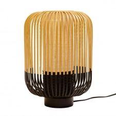 Lampe à poser bambou/noir H39cm