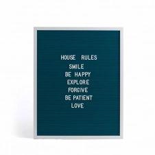 Tableau à messages en bois bleu