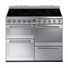 Cuisinière induction SMEG SYD4110I 5 foyers booster Inox