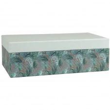 Boîtes en carton vert imprimé végétal (x2)