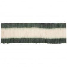 Set de table en ramie et coton vert et écru