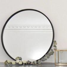Miroir rond en métal noir mat 60 cm Soho Arne Lykke