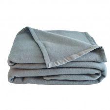 Couverture en laine anthracite 240×220