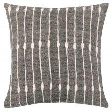 Housse de coussin en coton et lin beige et gris 40×40