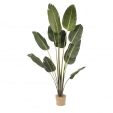 Plante artificielle en pot tressé