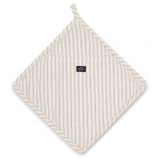 Dessous de plat Icons Herringbone Striped Beige-white