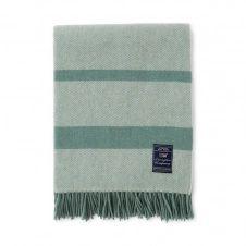 Plaid en laine Herringbone 130×170 cm Vert