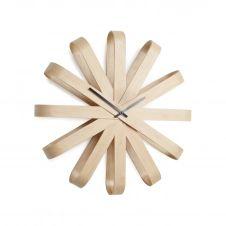 Horloge design en bois D51,4