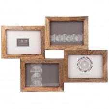 Cadre multivues 4 photos en manguier 51×36
