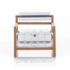 Fauteuil transparent cadre bois