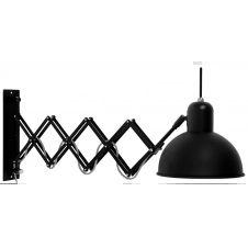 Applique murale déployante acier noir L50-85cm