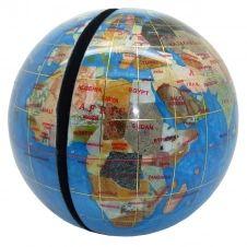 Serre livres globe terrestre en pierres fines turquoise