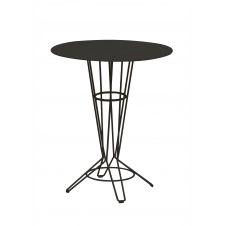 NOSTRUM – Table haute en acier gris anthracite D80