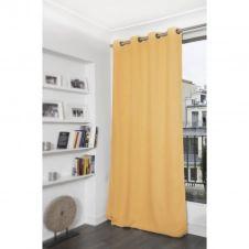 Rideau thermique occultant jaune 140×260