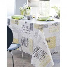 Nappe en coton enduit PVC gris 160×250 cm