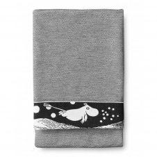 Serviette de bain VågMoomin 70x150cm Noir-blanc