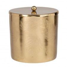 Boîte en métal doré à motifs