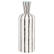 Vase en dolomite blanche à stries noires H34