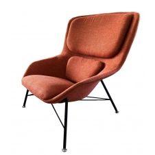 Fauteuil design en tissu orange