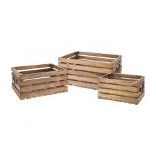 Caisses en bois style caisses à fruits – Lot de 3