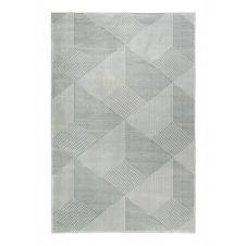 Tapis motif géométrique à relief vert beige 200×133