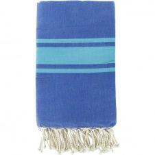 Fouta bicolore 100×200 Bleu grec et vert turquoise