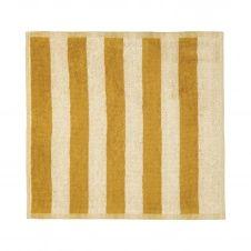 Serviette Kaksi Raitaa ochre-off white 30×30 cm