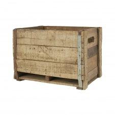 Caisse en bois vintage 12 compartiments