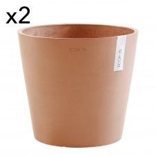 Lot de 2 pots de fleurs terracotta D30