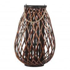 Lanterne décorative marron en bois de saule 60 cm