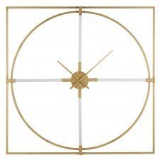 Horloge carrée en métal doré 100×100