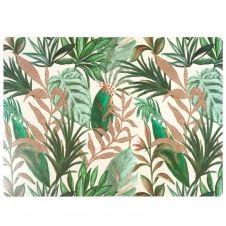 Set de table motif végétal multicolore