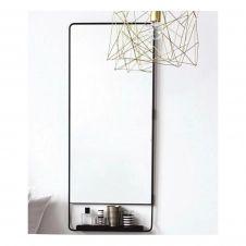 Miroir horizontal avec tablette et bord noir 45×110