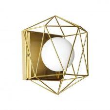 Applique métal/verre H23cm