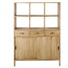 Vaisselier 2 portes 3 tiroirs en manguier recyclé Cezanne