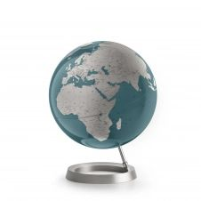 VISION MIDNIGHT BLUE – Globe terrestre de design, textes en anglais
