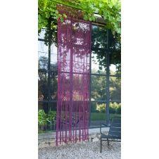 Rideau portière en macramé de coton 100×280 cm carmin