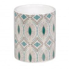 Bougie parfumée en céramique à motifs verts